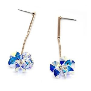hanging hammer swarovski Crystal earrings